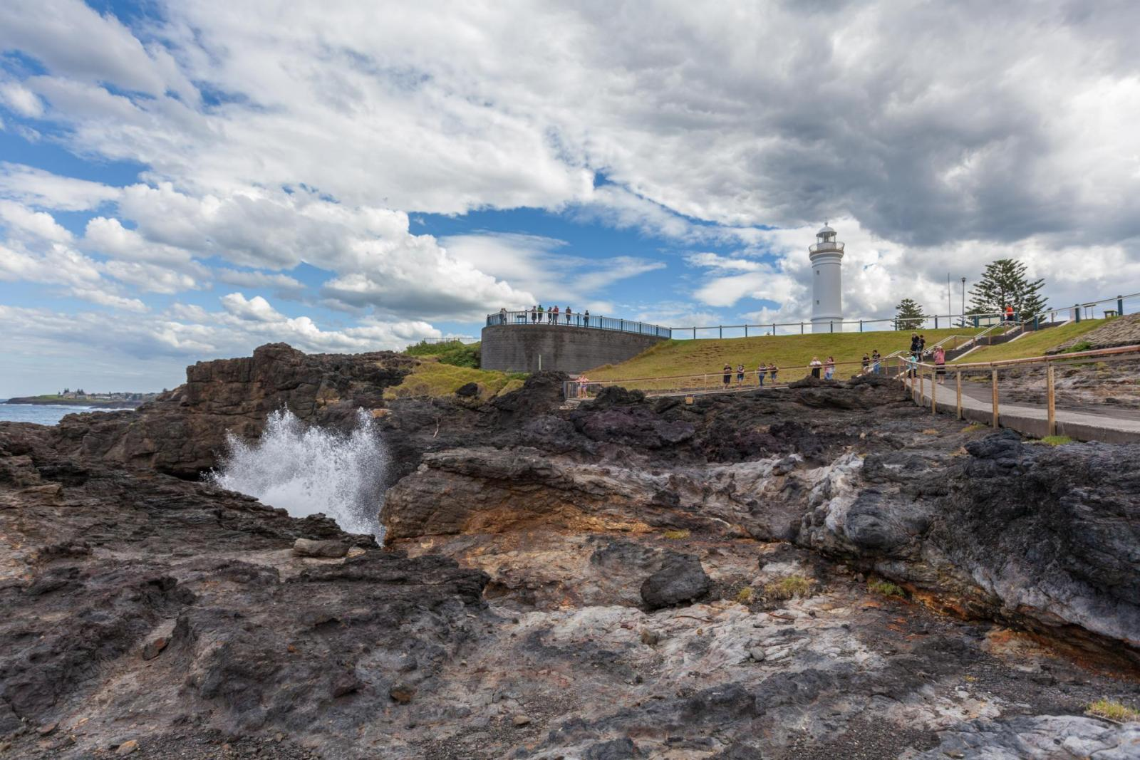Reiseroute Sydney Melbourne: Kiama Lighthouse blowhole NSW