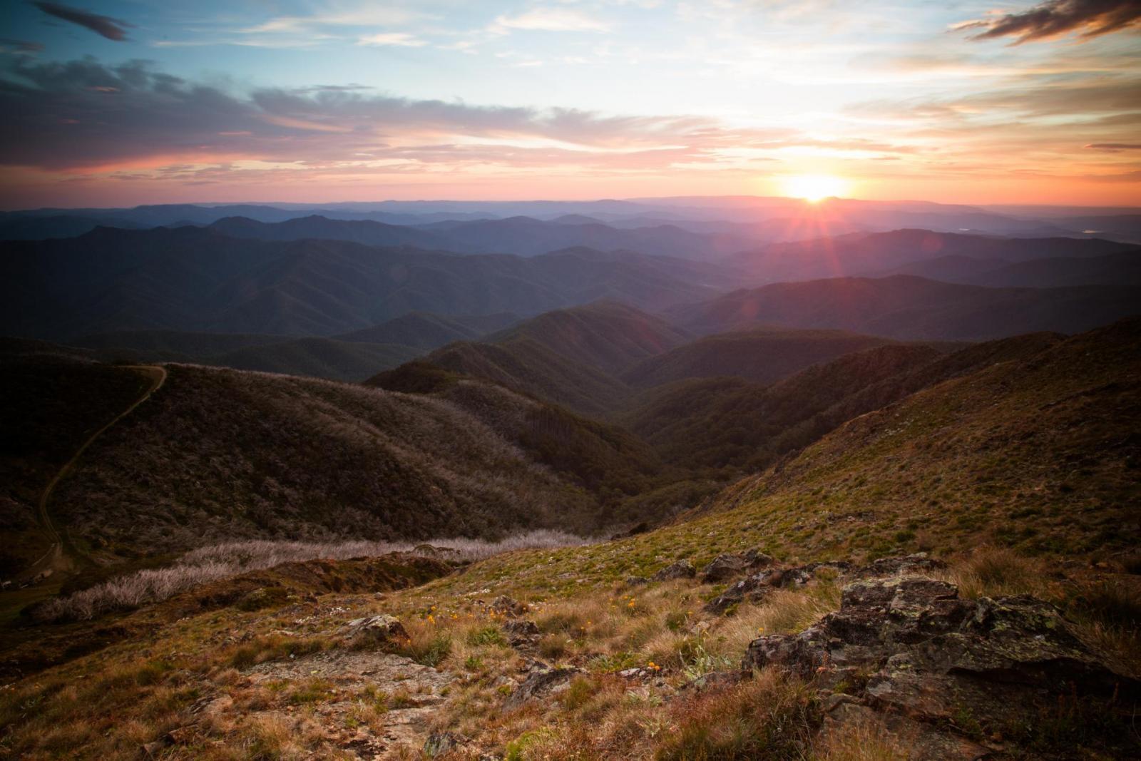 Berg Mount Buller Aussicht Mansfield interessante Orte Australien
