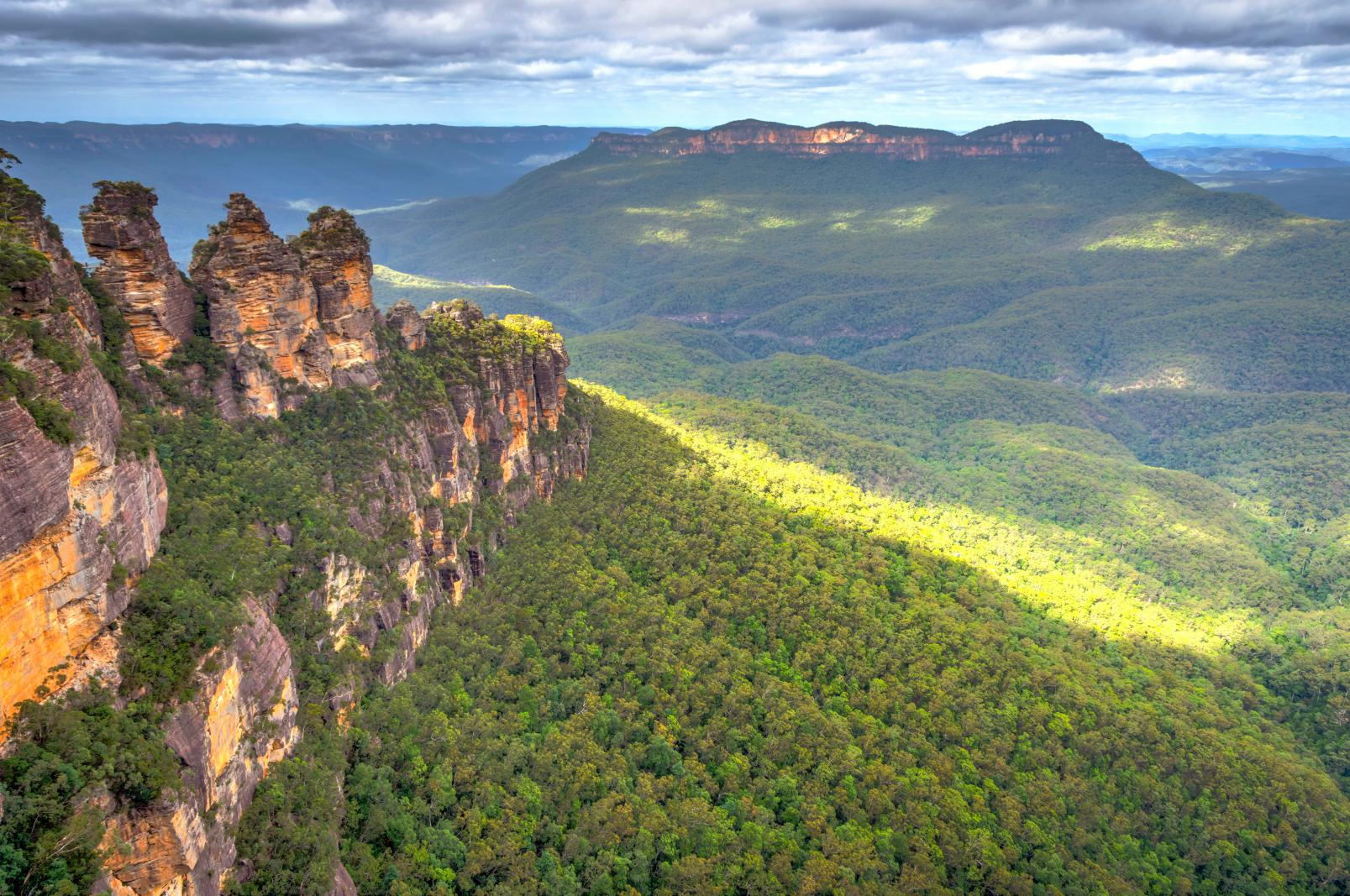 Der Blue Mountains Nationalpark In New South Wales