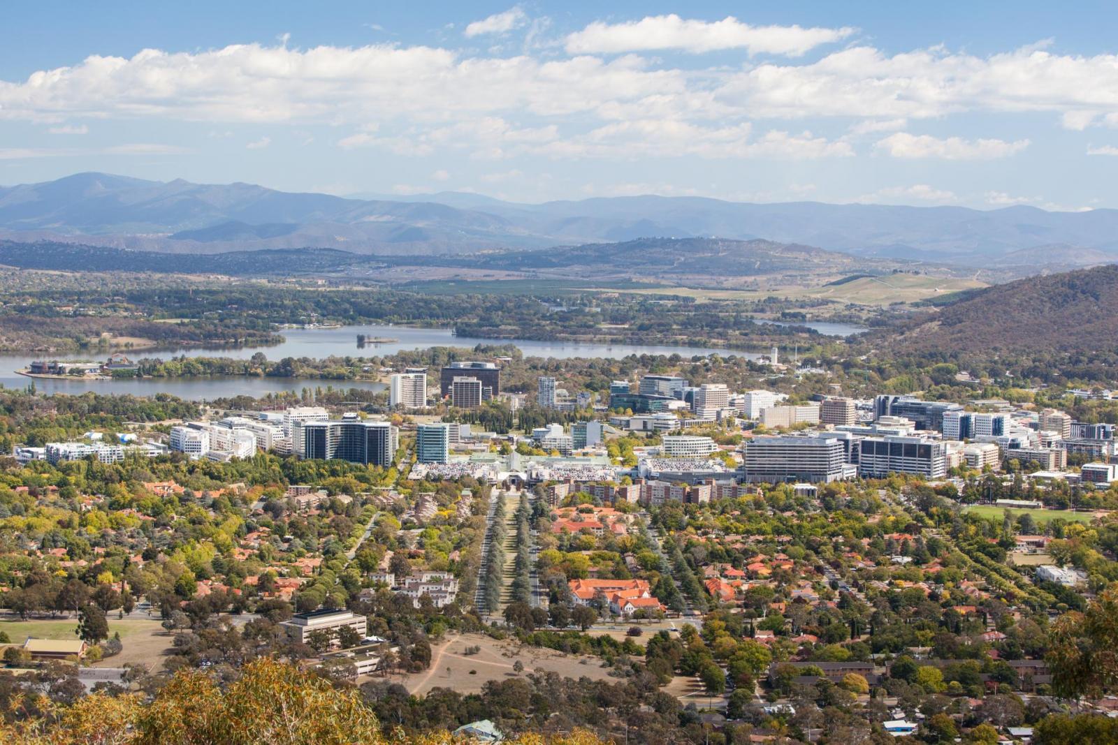 Canberra Australien aus der Luft