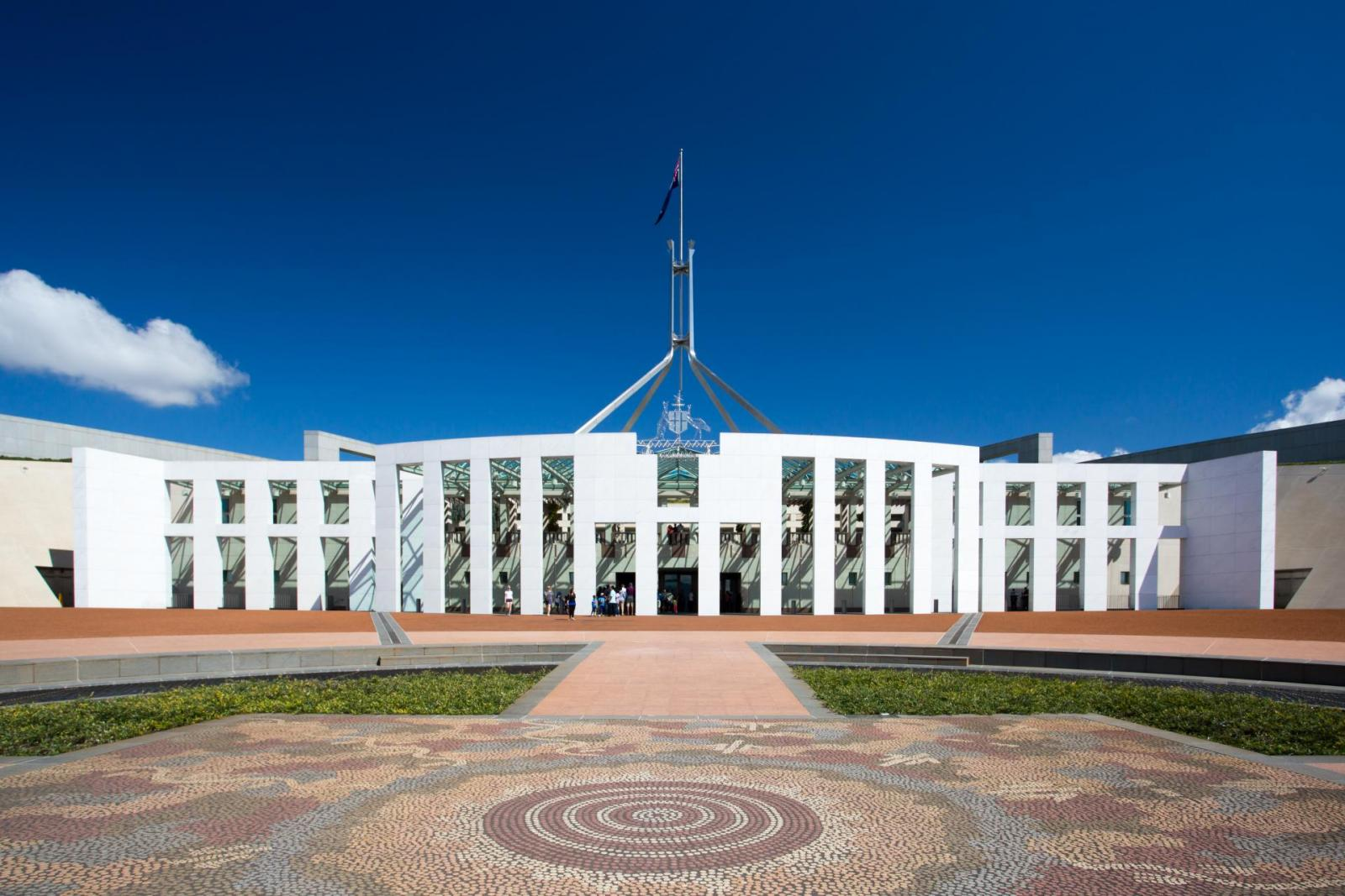 Canberra Australien New Parliament House