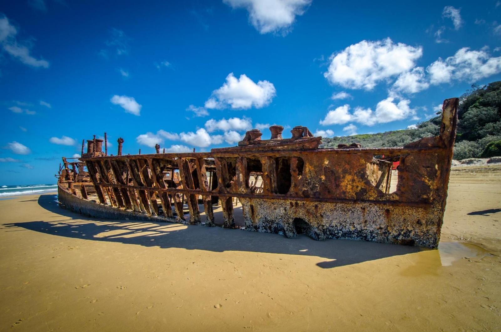 Fraser Island Tour mit dem 4WD: Das Schiffswrack