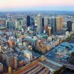 Helikopterflug über Melbourne