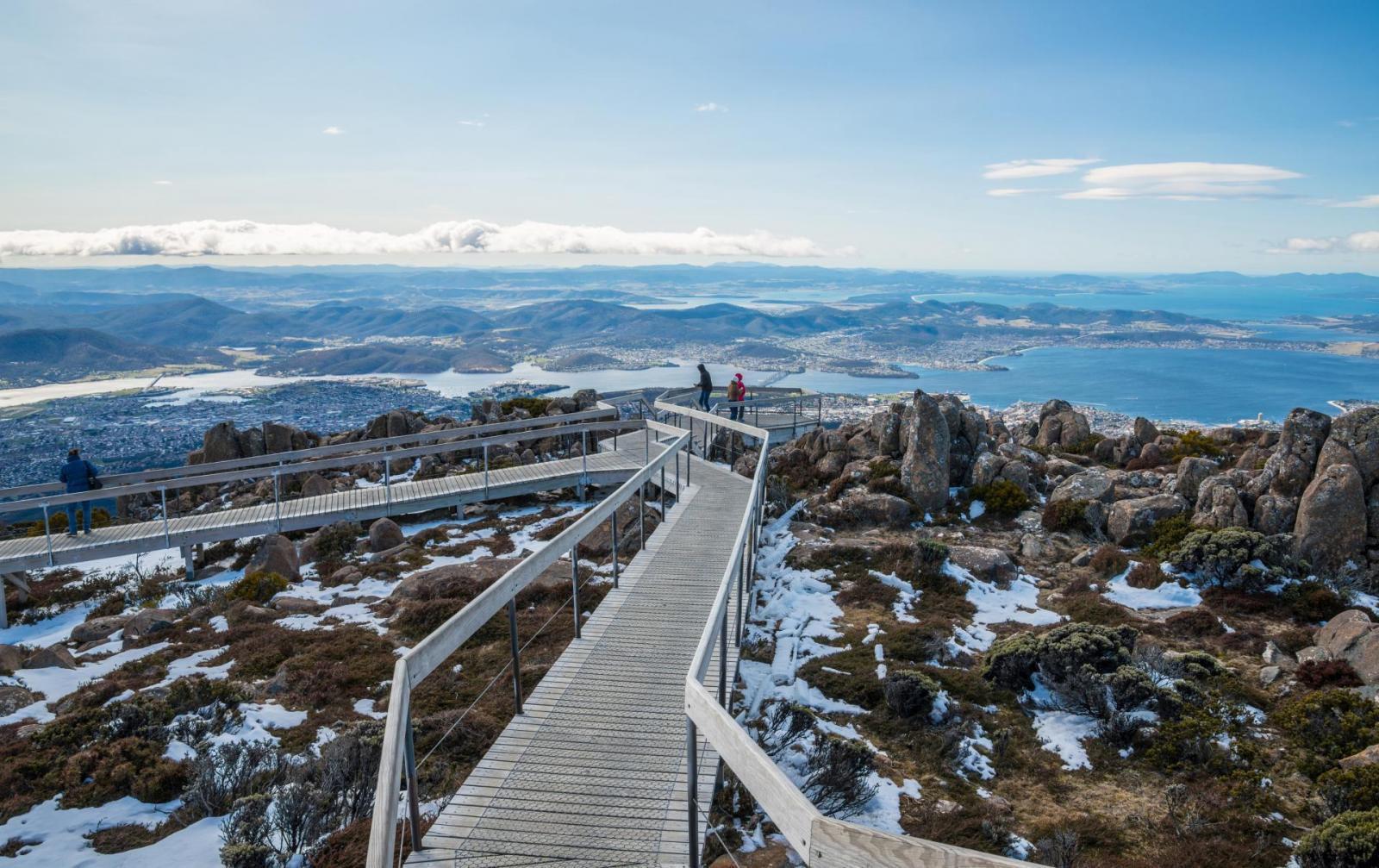 Beste Reisezeit Australien: Mount Wellington in Tasmanien