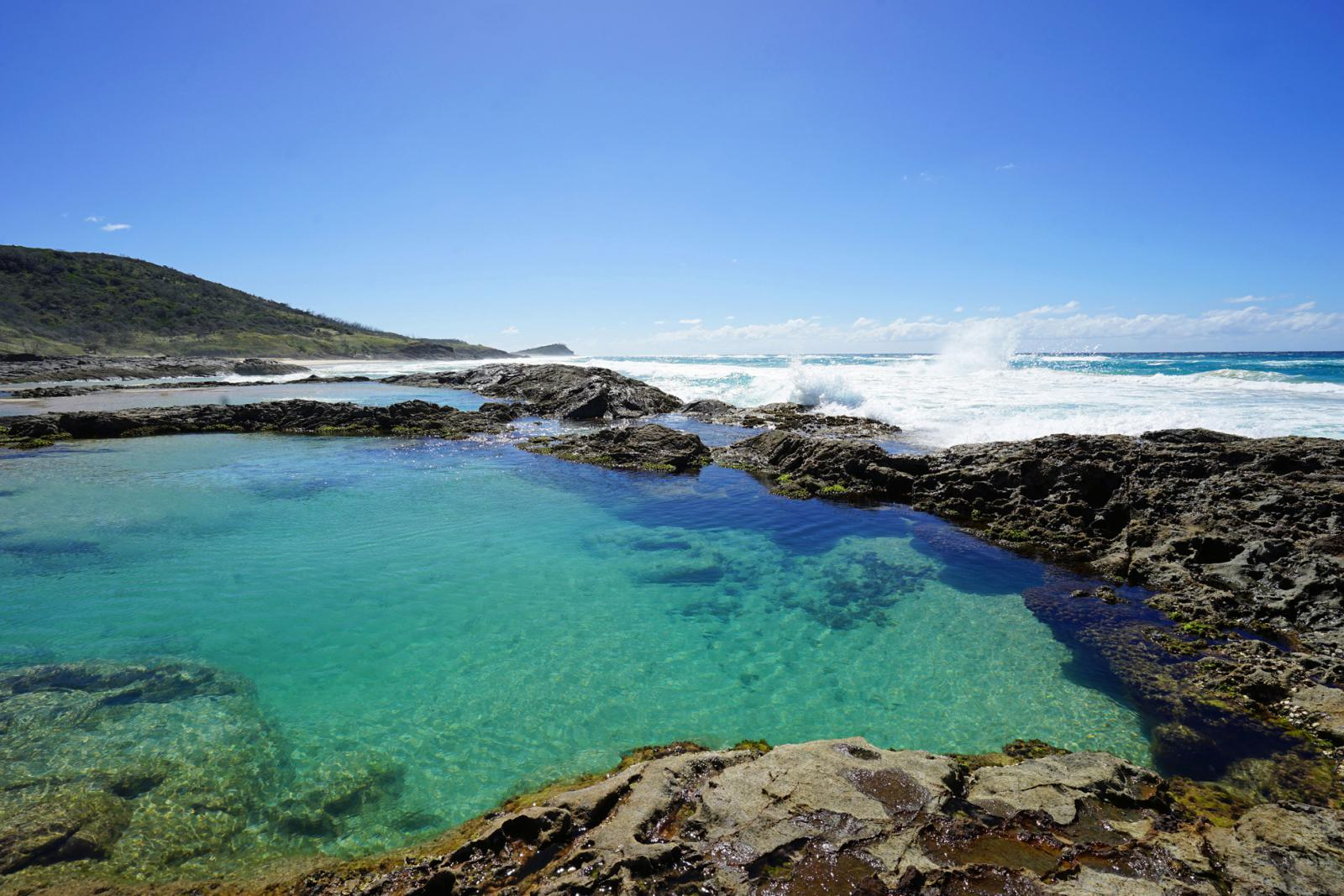 Fraser Island Sehenswürdigkeiten: Champagne Pools
