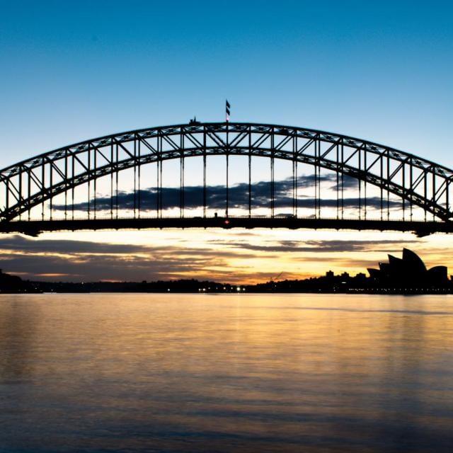 Bester Blick auf die Sydney Harbour Bridge